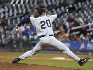 baseball player throwing athlete elbow injury